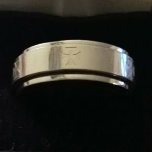Mens wedding worry ring